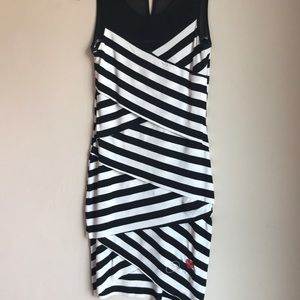 Black and white stripped sleeveless dress